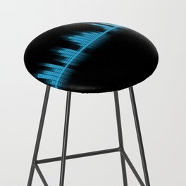 Cool Blue Graphic Equalizer Music on black Bar Stool