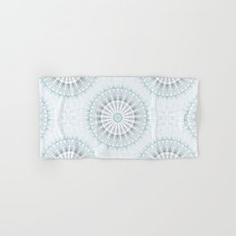 Teal Aqua Mandala Hand & Bath Towel