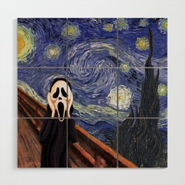Scream Scary movie Wood Wall Art
