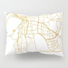 CAPE TOWN SOUTH AFRICA CITY STREET MAP ART Pillow Sham
