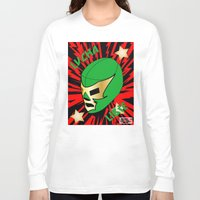 mucha Long Sleeve T-shirts featuring Mucha Lucha by Los Espada Art