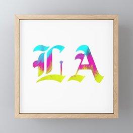 LA | Liliane Avalos logo Framed Mini Art Print
