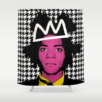 basquiat Shower Curtains featuring JEAN MICHEL BASQUIAT by SebinLondon