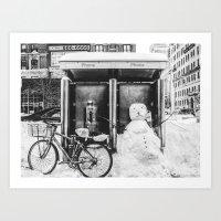 Snowman NYC-2016 Art Print