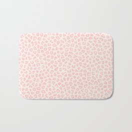Modern ivory blush pink girly cheetah animal print pattern Bath Mat