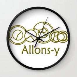 Allons-y Golden Gallifreyan- Doctor Who Wall Clock