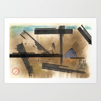barcelona Art Prints featuring Barcelona by Sergi S.M.