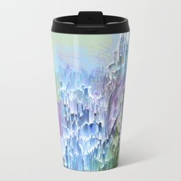 Wild Nature Glitch - Blue, Green, Ultra Violet #nature #homedecor Travel Mug
