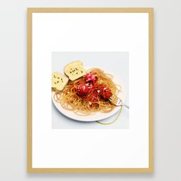 Paper Clip Pasta Framed Art Print