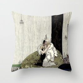 "Kay Nielsen Fairy Tale Art from ""West of the Moon"" Throw Pillow"