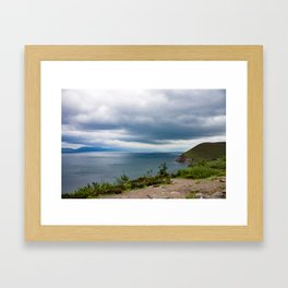 Stormy day Framed Art Print