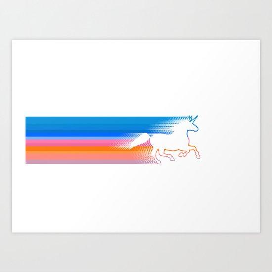 Unicorn Run Art Print