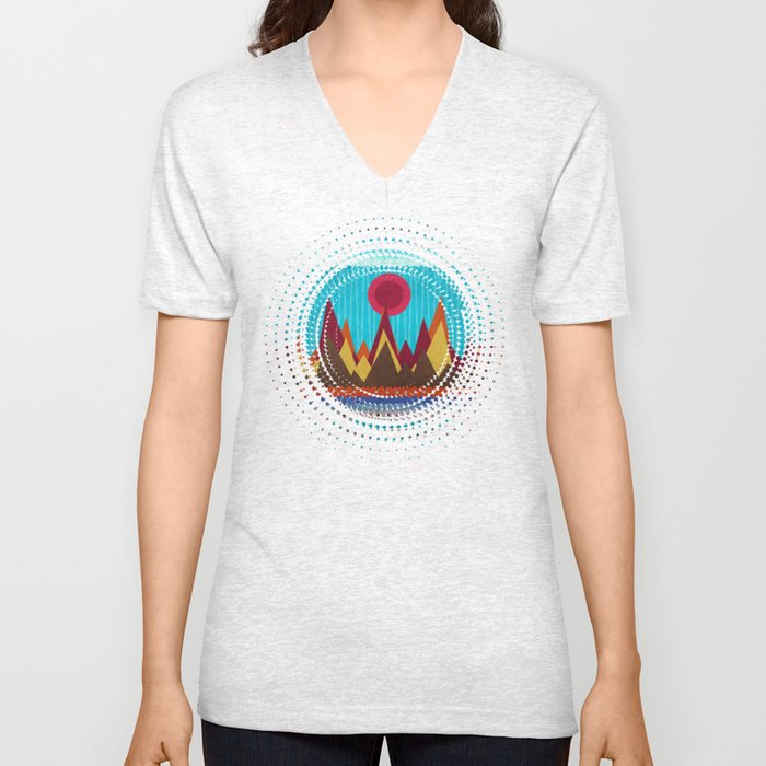 Textures/Abstract 139 Unisex V-Neck