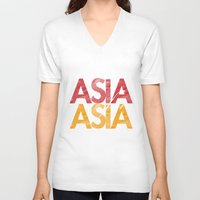asia V-neck T-shirts featuring Asia for Asia by Park is Park