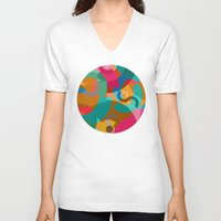 picasso V-neck T-shirts featuring Pattern Picasso by Tony Vazquez