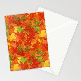 Autumn leaves #17 Stationery Cards