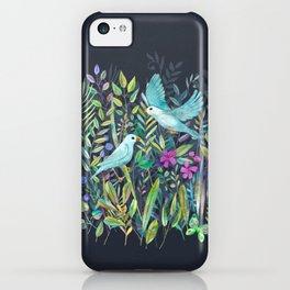 Little Garden Birds in Watercolor iPhone Case