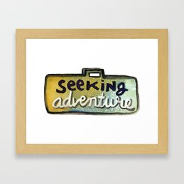 Seeking Adventure Framed Art Print