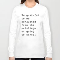 school Long Sleeve T-shirts featuring school by Renee Monaco