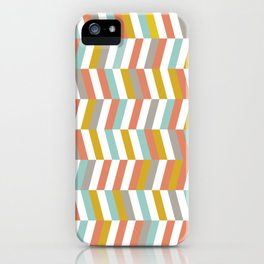 Yellow, Red, Grey and Blue   Geometric Pattern iPhone Case