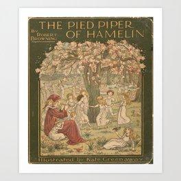The Pied Piper of Hamelin - Robert Browning Art Print