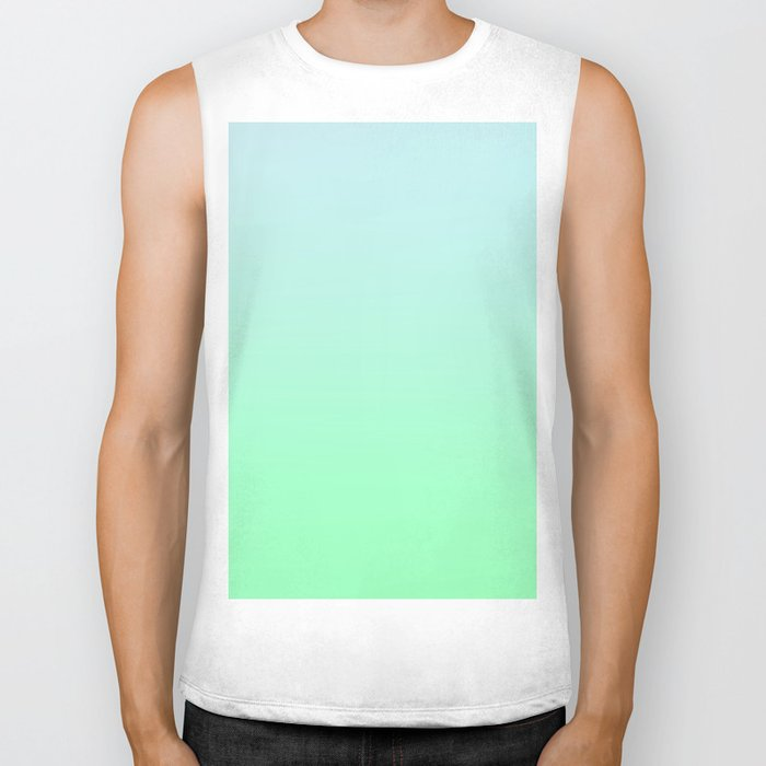 BIG WAVES - Minimal Plain Soft Mood Color Blend Prints Biker Tank
