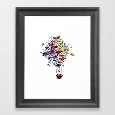 BIRD BALLON Framed Art Print