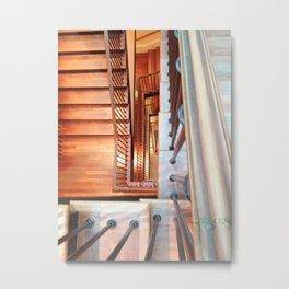 Spiral Stairs Metal Print
