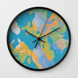 THE SHAPE OF WATER - TURQUOISE Wall Clock