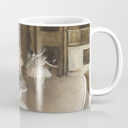 Ballet Rehearsal on Stage by Edgar Degas Coffee Mug