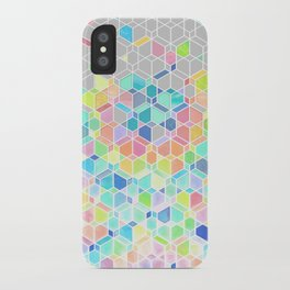 Rainbow Cubes & Diamonds iPhone Case