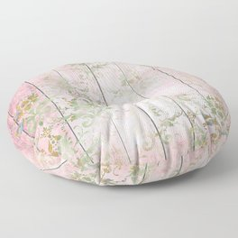 Beatiful Shabby Wood Design Floor Pillow