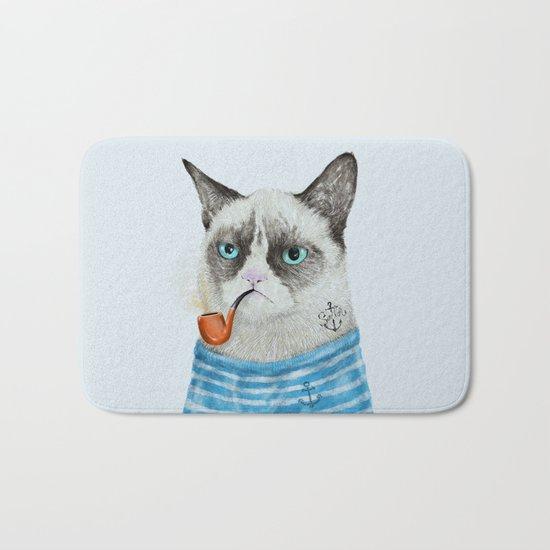 Sailor Cat I Bath Mat