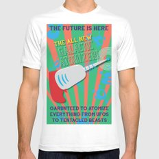 The Galactic Atomizer MEDIUM Mens Fitted Tee White