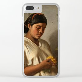 Indian Woman with Marigold by Felipe Santiago Gutiérrez Clear iPhone Case