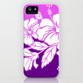 Hibiscus Purple iPhone Case