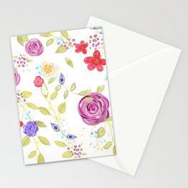 Drawn Natura Botanical Floral Pattern Stationery Cards