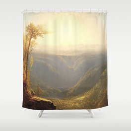 A Gorge in the Mountains by Sanford Robinson Gifford 1862 Shower Curtain