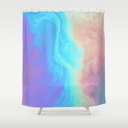 Holograph x Marble Shower Curtain