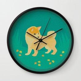 Springtime Shibe Wall Clock