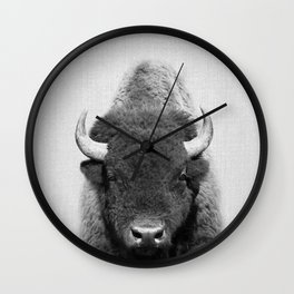 Buffalo - Black & White Wall Clock