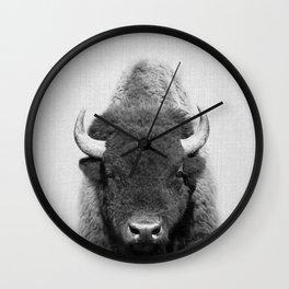 Buffalo - Black & White Wall Clock
