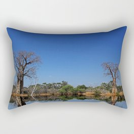 African landscape with baobabs Rectangular Pillow