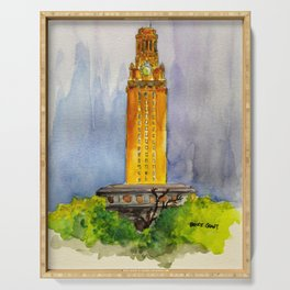 UT Tower - Shines to welcome new students to campus Serving Tray