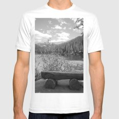 Rocky Mountain Bench 3 Mens Fitted Tee White MEDIUM