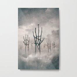 Reaching Metal Print