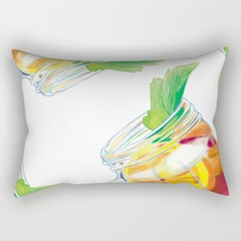 Summer Cocktail Rectangular Pillow