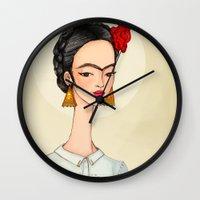 frida Wall Clocks featuring Frida by Renia