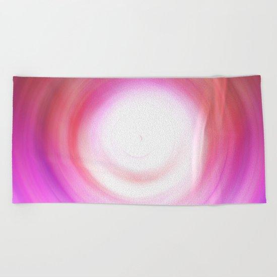 Purple and White Swirl Beach Towel