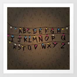Christmas bulbs alphabet Art Print